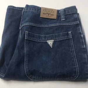GUESS Mens 44 Carpenter Blue Jean Shorts Cargo